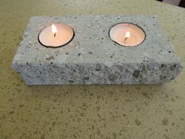 Kerzenhalter 2-Flammig Graubeton