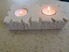 Kerzenhalter 2-Flammig Muster