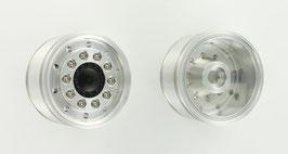 10穴ワイドタイヤ用アルミ製前輪ホイール