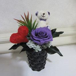 ハートくま (紫 or ピンク)