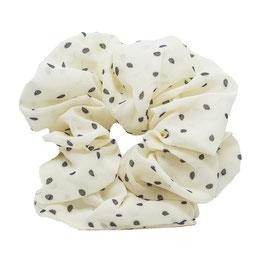 La Basic White Scrunchie