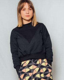 Sweatshirt black in black