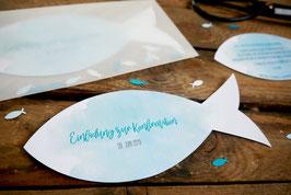 Einladungskarte Fisch
