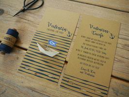 Einladungskarte zur Taufe | Kraftpapier