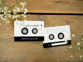 Musikwunschkarten (50 Stück) - Lasst uns abrocken!