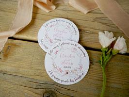 Personalisierter Bierdeckel | Untersetzer | Blumen