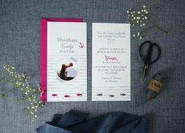 Danksagungskarte zur Taufe | Kraftpapier