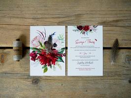 Hochzeitseinladung Boho