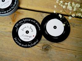 Personalisierter Bierdeckel | Untersetzer | Schallplatte