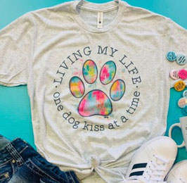 ONE DOG KISS AT A TIME T-SHIRT