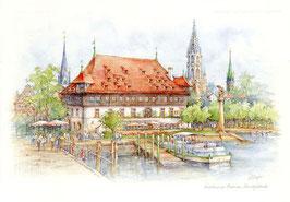 Aquarell Bodensee Konstanz