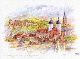 Heidelberg - Alte Brücke historisch
