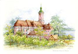 Aquarell Bodensee Birnau