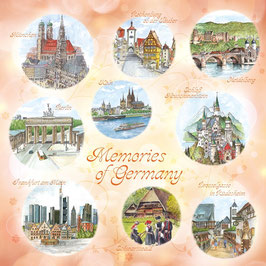 "Motivserviette ""Memories of Germany"" verziert"
