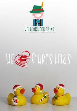 Weihnachtliches Badeenten Trio