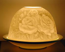 Porzellan-Windlicht Rose