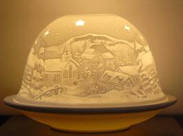 Porzellan-Windlicht Winternacht