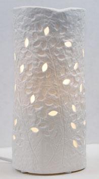 Elektrische Porzellanlampe Motiv Blätter