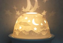 Porzellan-Windlicht Sternhimmel
