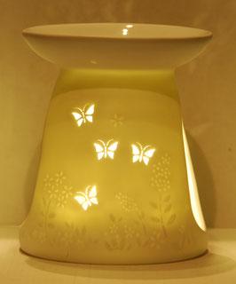Porzellan Aromalampe Motiv Schmetterlinge