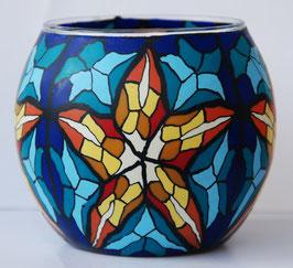 Teelicht-Leuchtglas Mosaik Stern