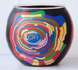 Teelicht-Leuchtglas Spirale