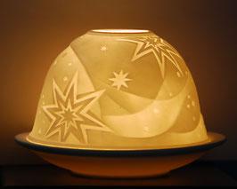 Porzellan-Windlicht Stern