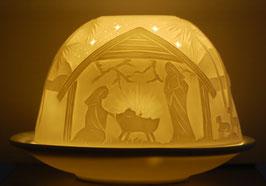 Porzellan-Windlicht Krippe
