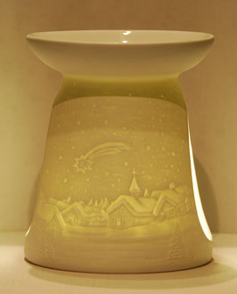 Porzellan Aromalampe Motiv Komet