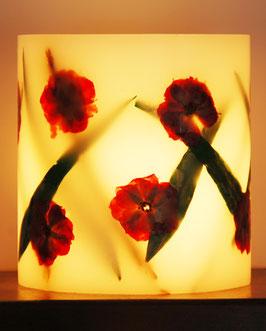 Hurrikan-Kerze Motiv Rose