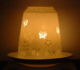Porzellan-Glocke Schmetterlinge