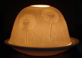 Porzellan-Windlicht Pusteblume