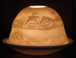 Porzellan-Windlicht  Delphine