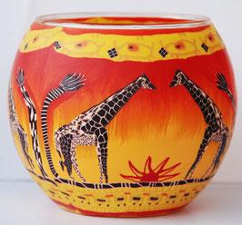 Teelicht-Leuchtglas Giraffe