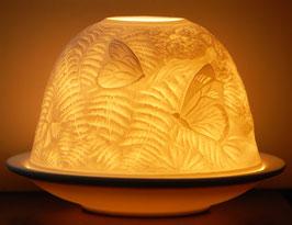 Porzellan-Windlicht Schmetterlinge