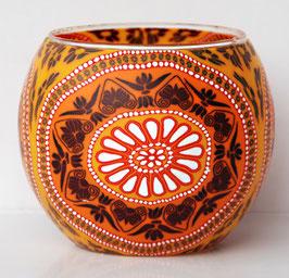 Teelicht-Leuchtglas Ornament