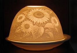 Porzellan-Windlich Sonnenblume