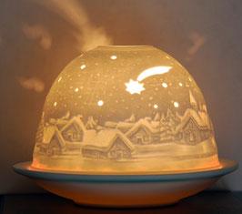 Porzellan-Windlicht Komet