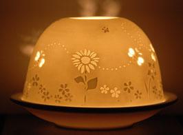 Porzellan-Windlicht  Bienen