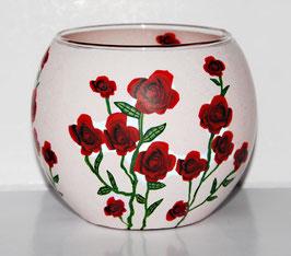 Teelicht-Leuchtglas Rosen