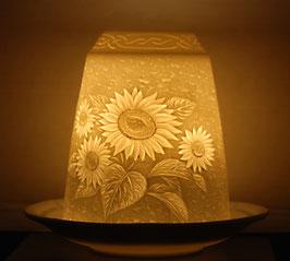 Porzellan-Glocke Sonnenblume