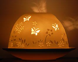 Porzellan-Windlicht Schmetterling