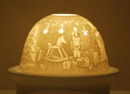 Porzellan Windlicht Kamin