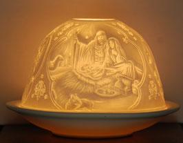 Porzellan-Windlicht Christi Geburt