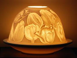 Porzellan-Windlicht Tulpen