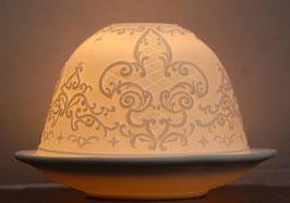 Porzellan-Windlicht Gotik
