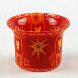 Votiv-Glas für Aromalampen Motiv Stern Gelb