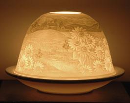 Porzellan-Windlicht Sonnenblumendorf