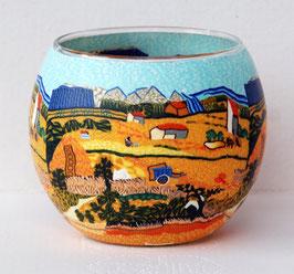 Teelicht-Leuchtglas Ernte-Dorf