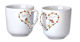verliebtes Becher-Set